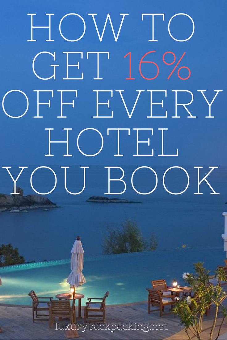 How to get 16% off every hotel