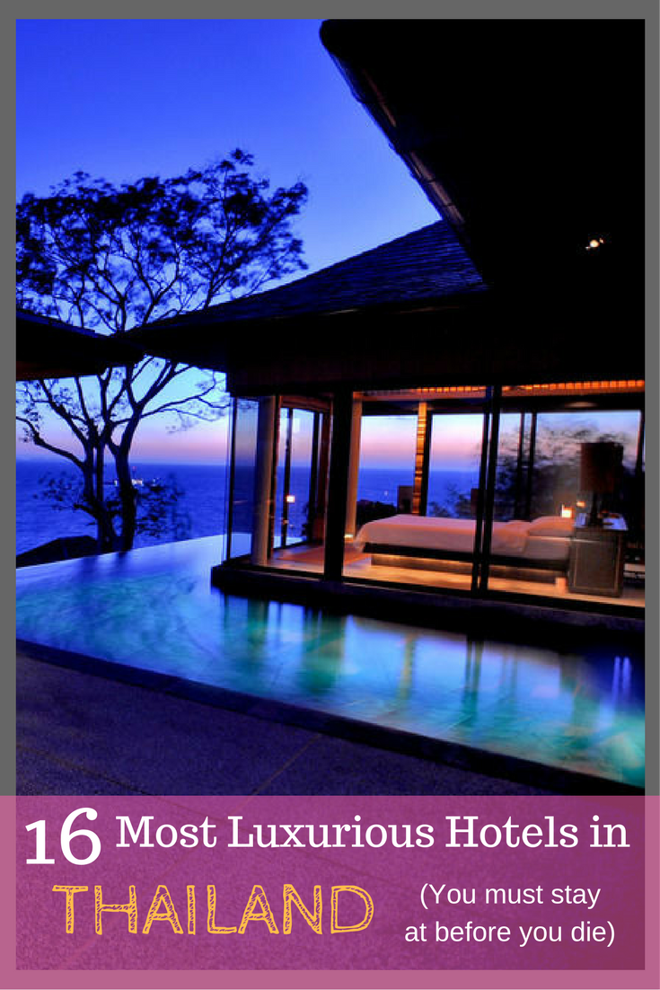 16 of the most amazing hotels in thailand luxurybackpacking for Amazing luxury hotels