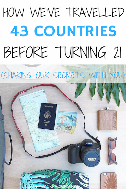 travelled 43 countries before 21